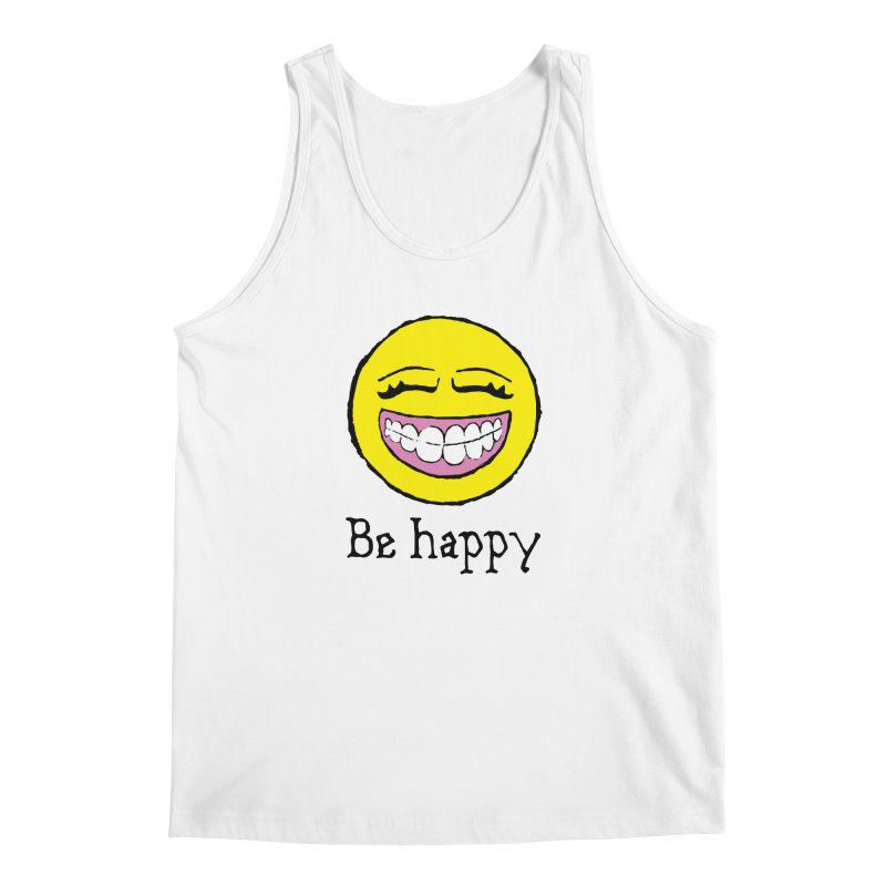 Be Happy Men's Regular Tank by Jesse Quam