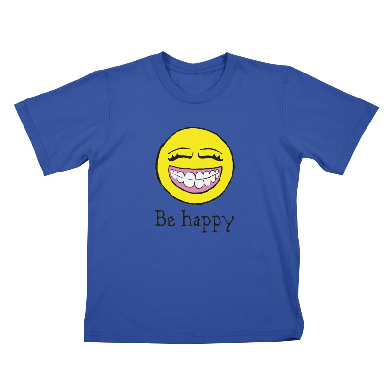 Be Happy Kids T-Shirt by Jesse Quam