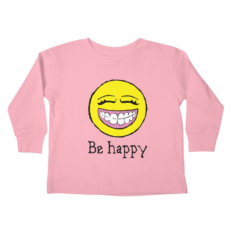 Be Happy Kids Toddler Longsleeve T-Shirt by Jesse Quam