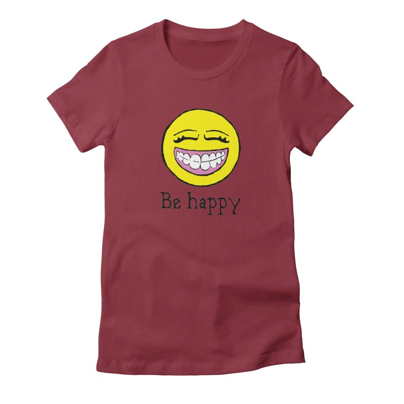 Be Happy Women's Fitted T-Shirt by Jesse Quam
