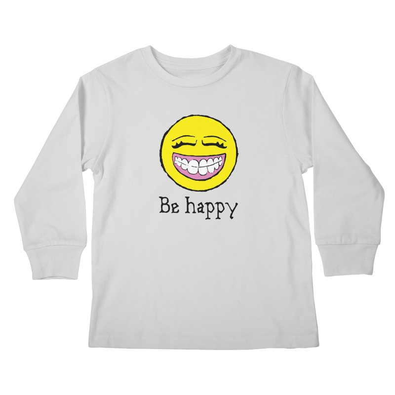 Be Happy Kids Longsleeve T-Shirt by Jesse Quam