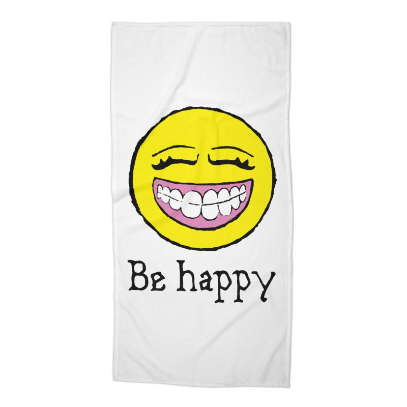 Be Happy Accessories Beach Towel by Jesse Quam