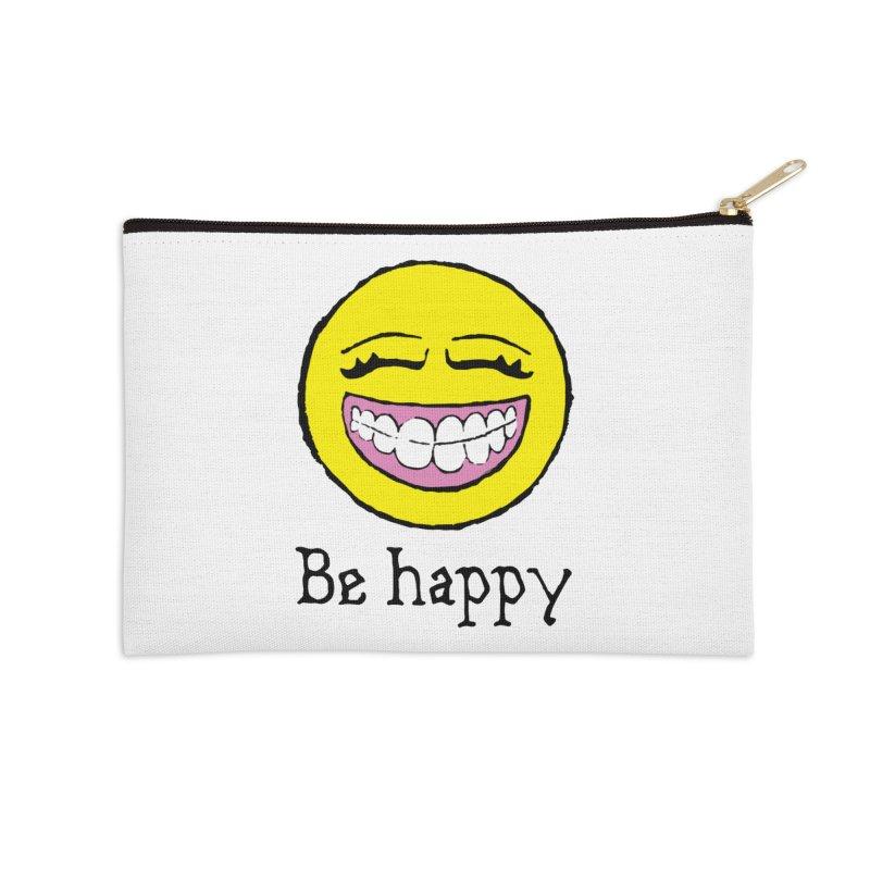 Be Happy Accessories Zip Pouch by Jesse Quam