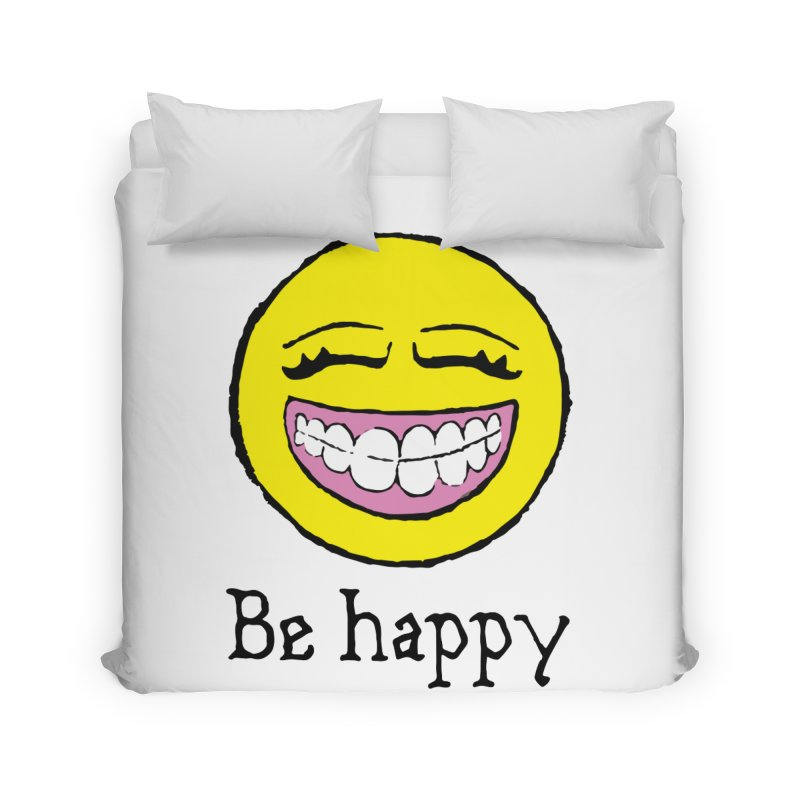 Be Happy Home Duvet by Jesse Quam