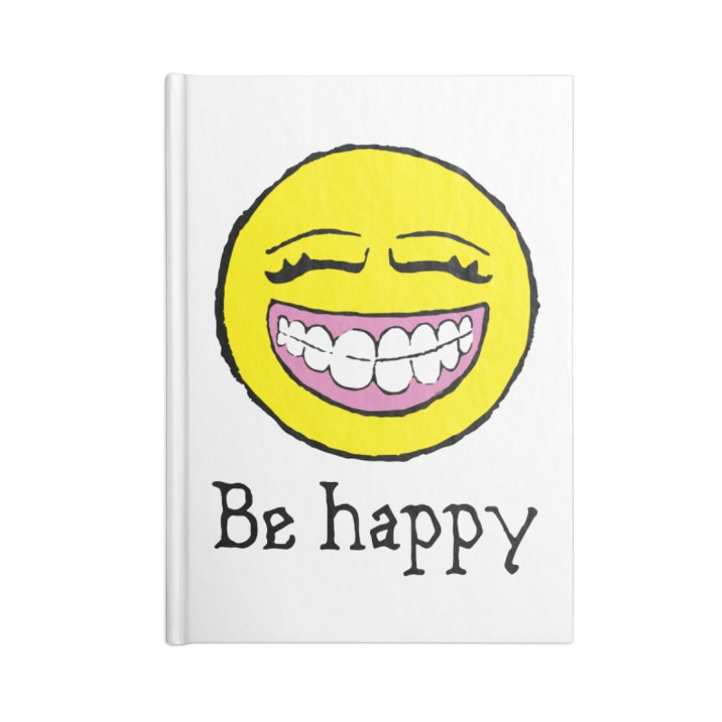 Be Happy Accessories Lined Journal Notebook by Jesse Quam