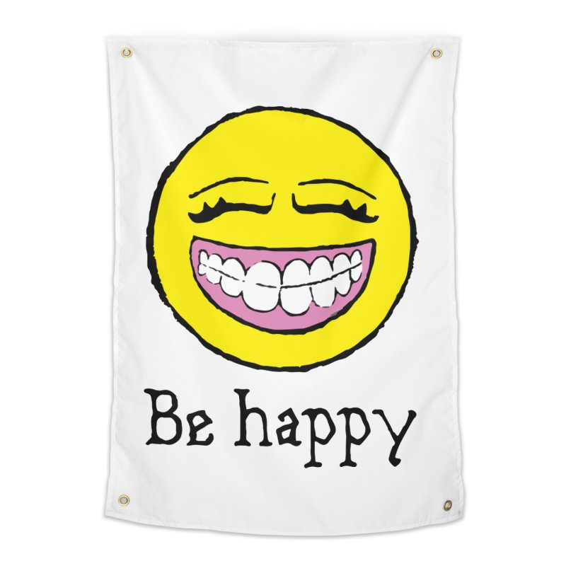 Be Happy Home Tapestry by Jesse Quam