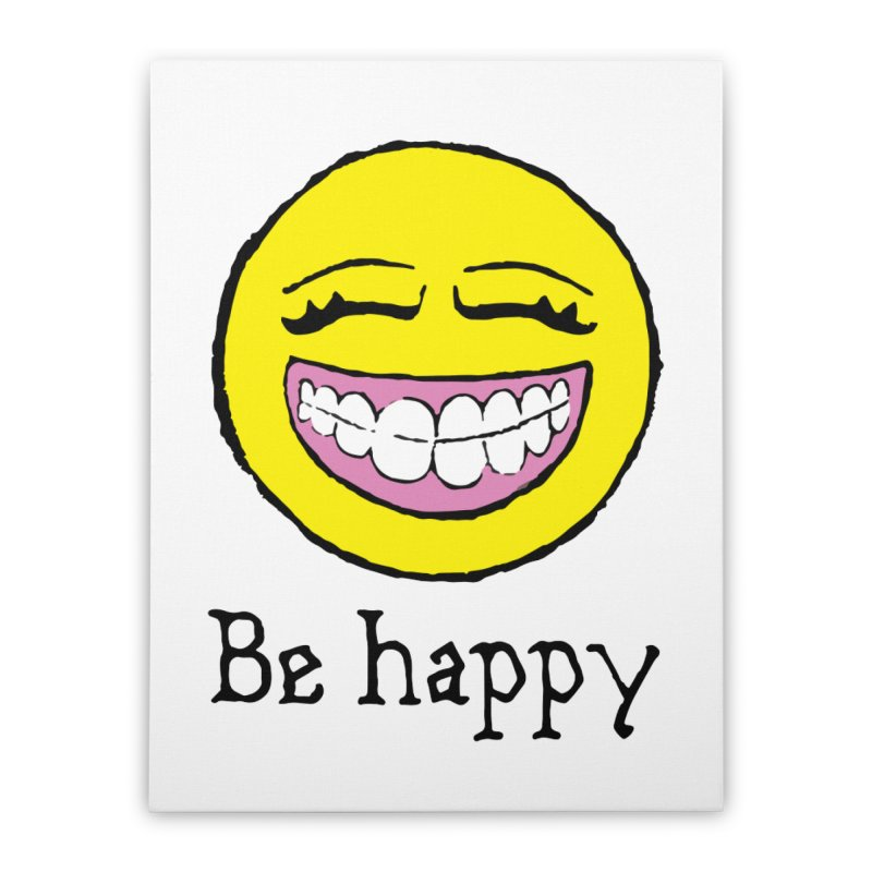 Be Happy Home Stretched Canvas by Jesse Quam