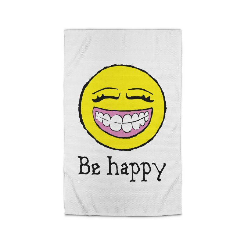 Be Happy Home Rug by Jesse Quam