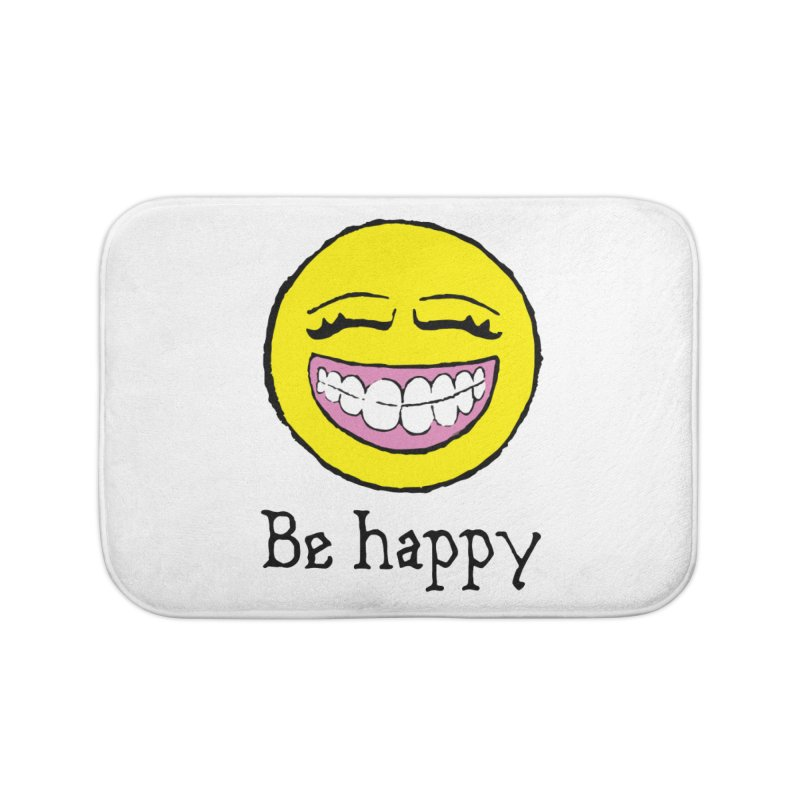 Be Happy Home Bath Mat by Jesse Quam