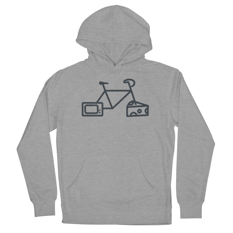 Bikes Cheese TV Women's Pullover Hoody by jesshanebury's Artist Shop