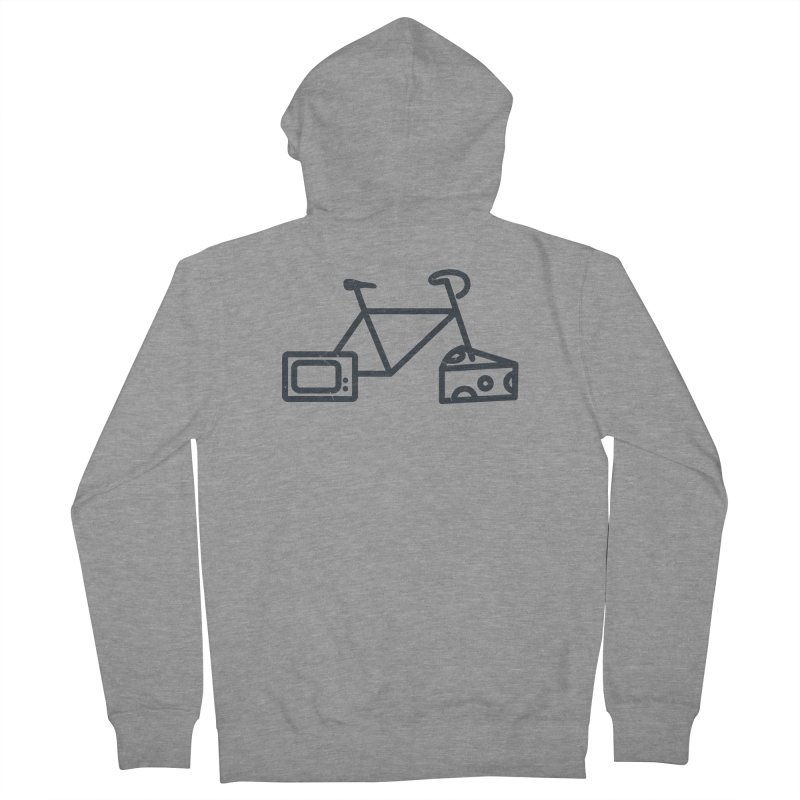 Bikes Cheese TV in Men's Zip-Up Hoody Heather Graphite by jesshanebury's Artist Shop