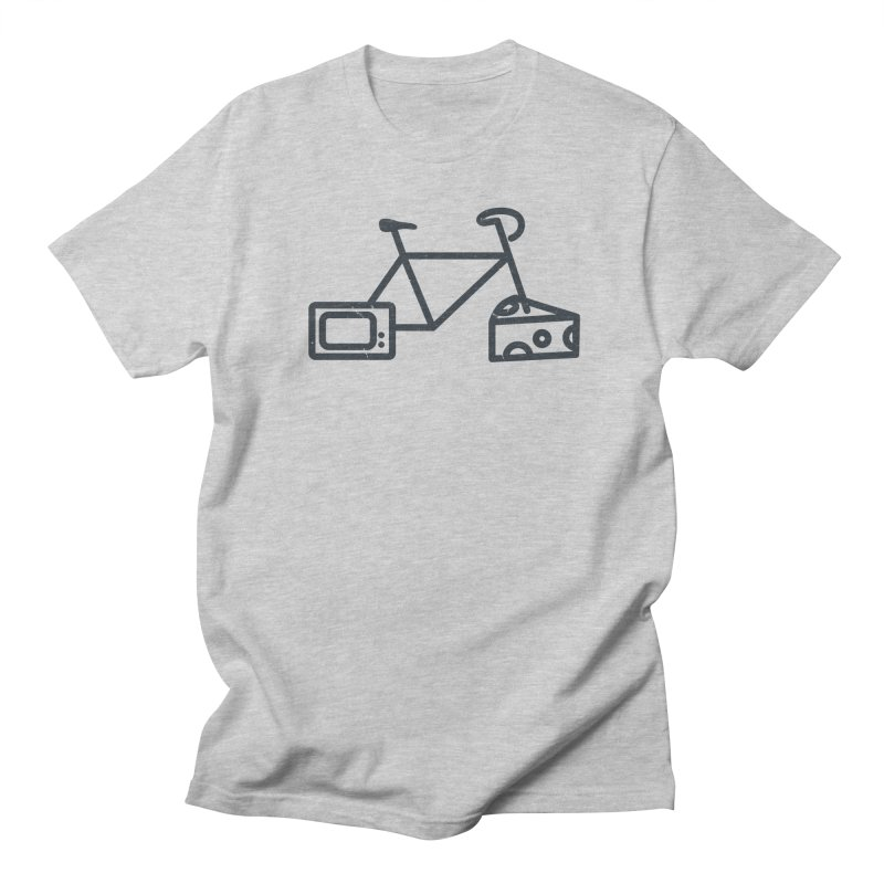 Bikes Cheese TV in Men's T-shirt Heather Grey by jesshanebury's Artist Shop