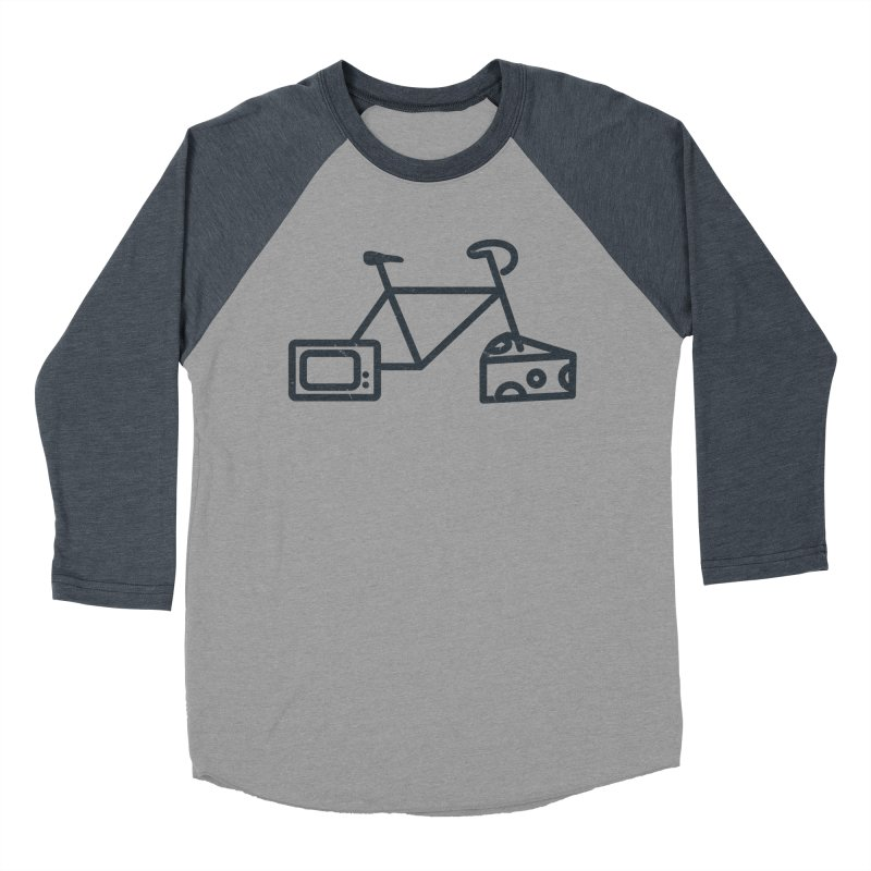 Bikes Cheese TV in Women's Baseball Triblend T-Shirt Navy Sleeves by jesshanebury's Artist Shop