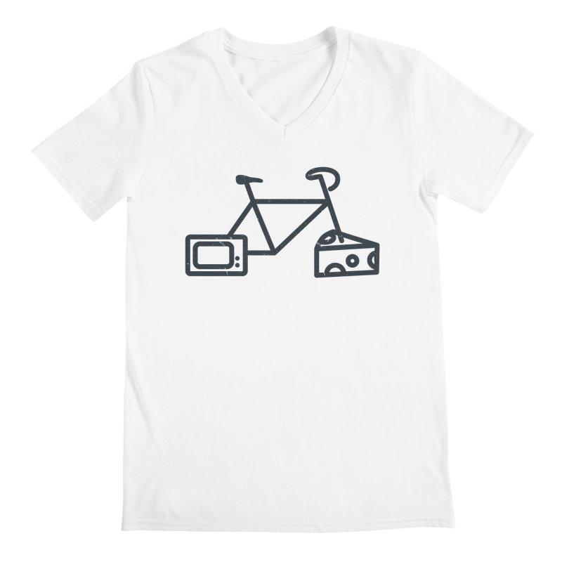 Bikes Cheese TV Men's V-Neck by jesshanebury's Artist Shop