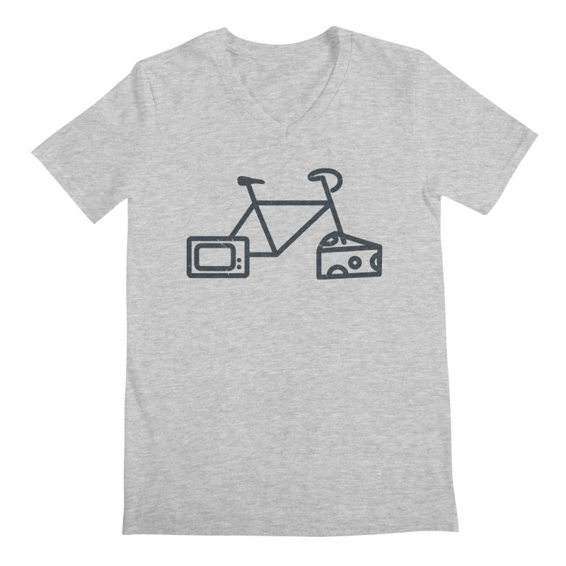 Bikes Cheese TV Men's V-Neck by jesshanebury's Artist Shop