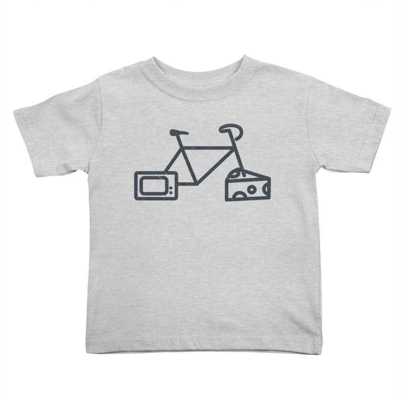 Bikes Cheese TV Kids Toddler T-Shirt by jesshanebury's Artist Shop