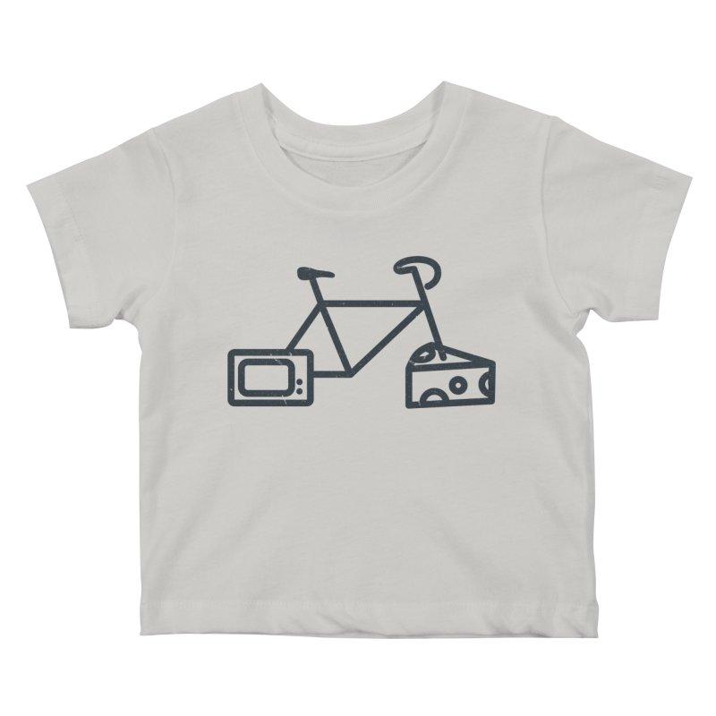 Bikes Cheese TV Kids Baby T-Shirt by jesshanebury's Artist Shop