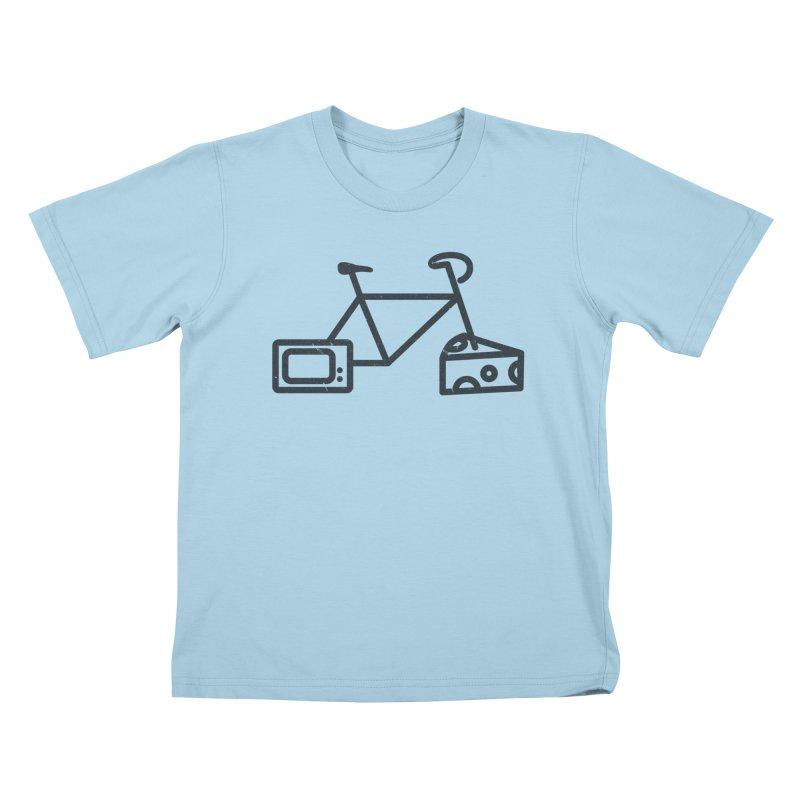 Bikes Cheese TV Kids T-Shirt by jesshanebury's Artist Shop