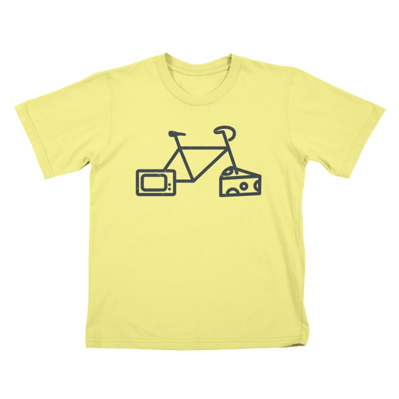 Bikes Cheese TV Kids T-shirt by jesshanebury's Artist Shop
