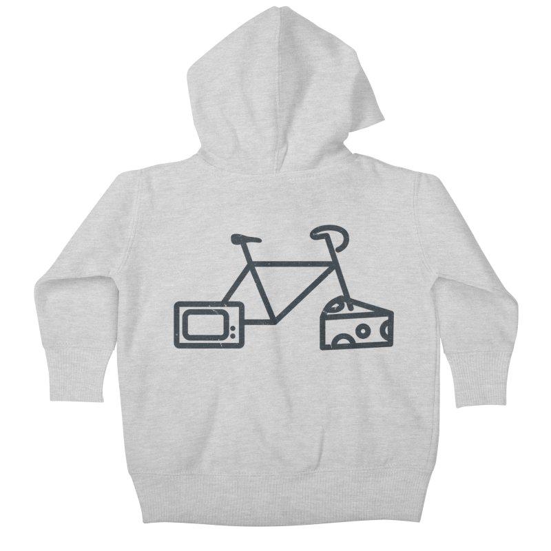 Bikes Cheese TV Kids Baby Zip-Up Hoody by jesshanebury's Artist Shop