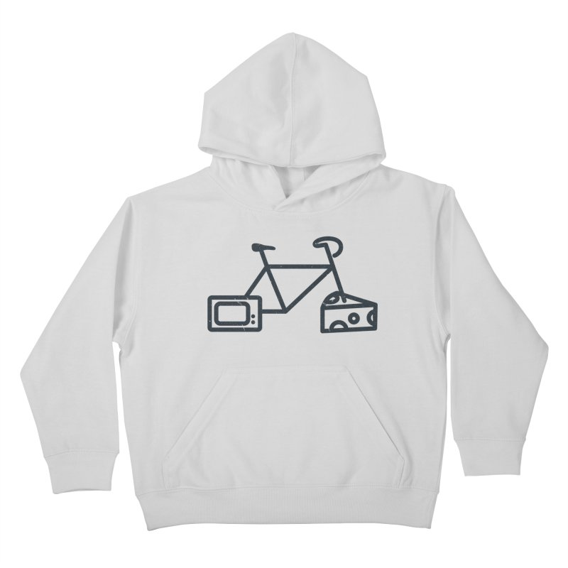 Bikes Cheese TV Kids Pullover Hoody by jesshanebury's Artist Shop