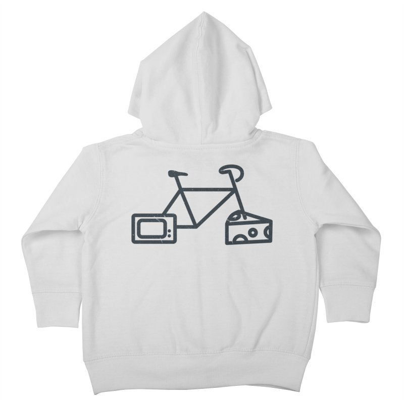 Bikes Cheese TV Kids Toddler Zip-Up Hoody by jesshanebury's Artist Shop