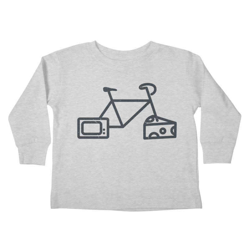Bikes Cheese TV Kids Toddler Longsleeve T-Shirt by jesshanebury's Artist Shop