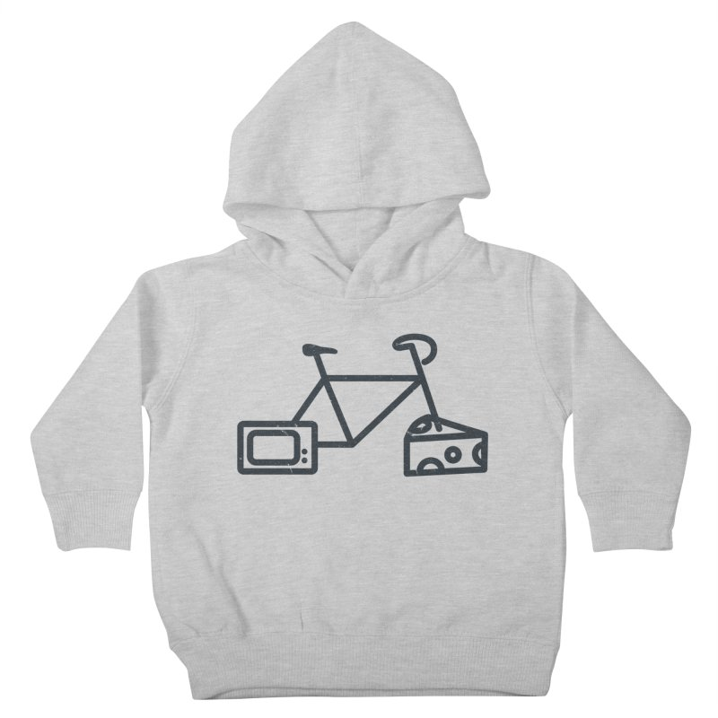Bikes Cheese TV Kids Toddler Pullover Hoody by jesshanebury's Artist Shop