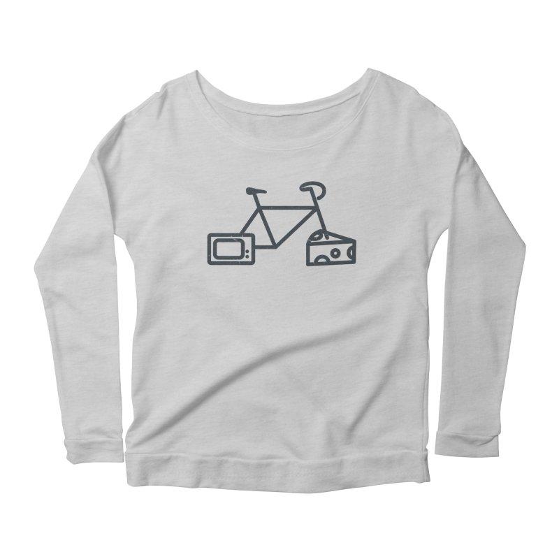 Bikes Cheese TV Women's Longsleeve Scoopneck  by jesshanebury's Artist Shop