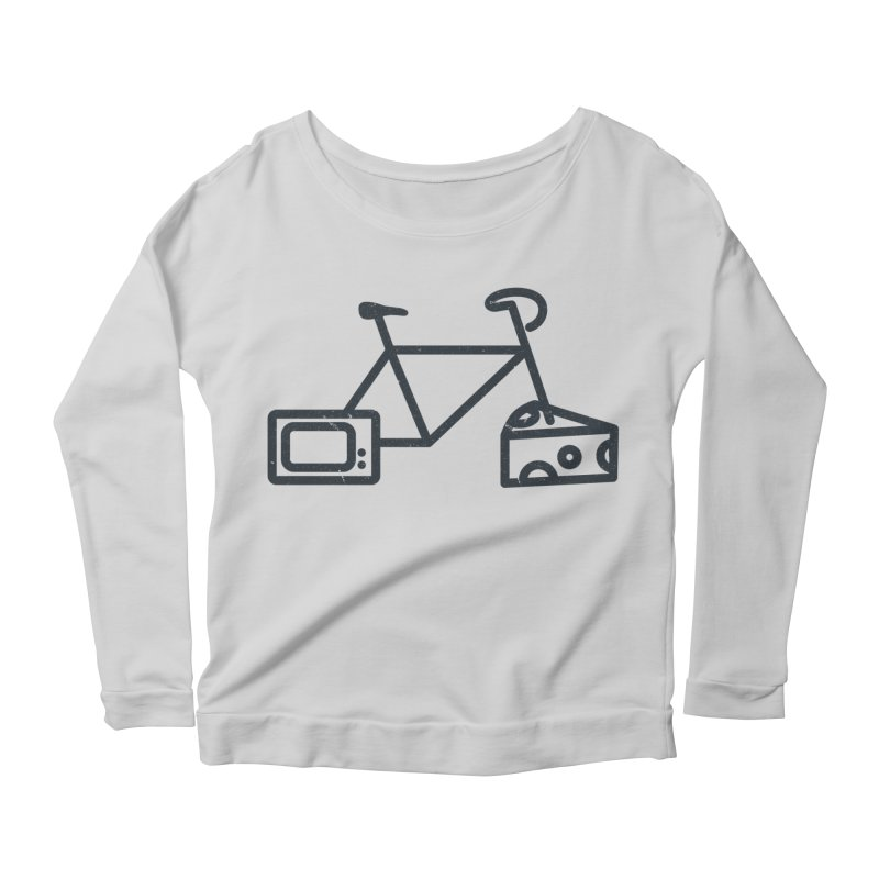 Bikes Cheese TV Women's Longsleeve Scoopneck  by jesshanebury's Artist Shop