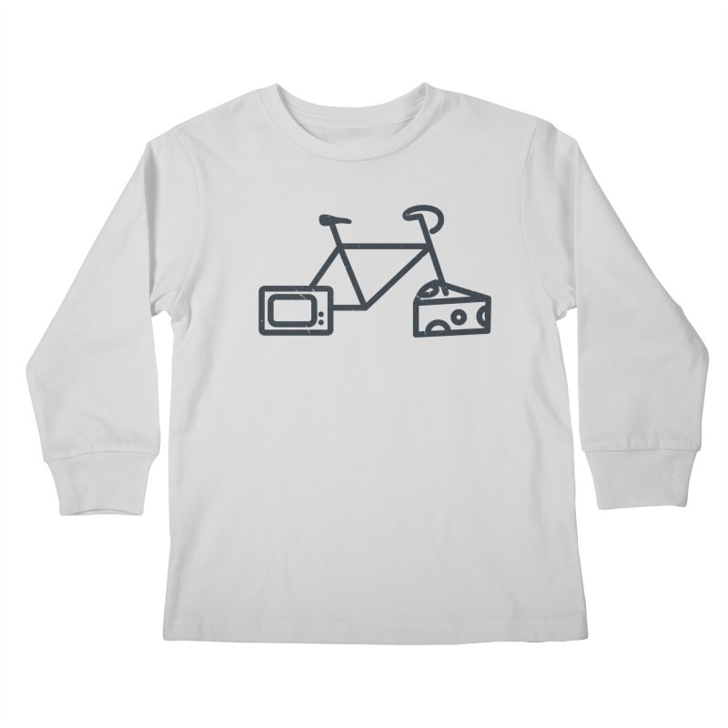 Bikes Cheese TV Kids Longsleeve T-Shirt by jesshanebury's Artist Shop
