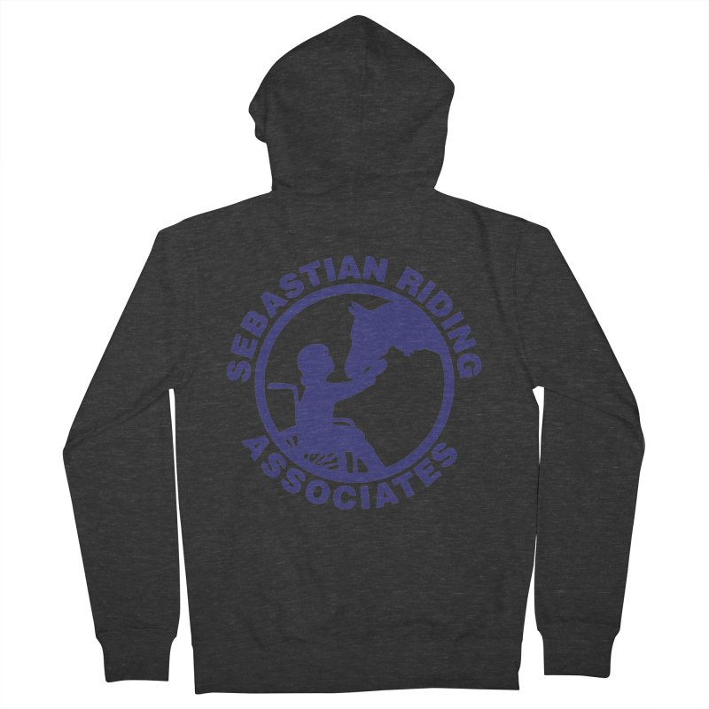 Sebastian Riding Logo Men's French Terry Zip-Up Hoody by jesshanebury's Artist Shop