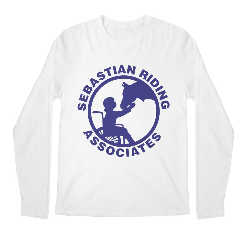 Sebastian Riding Logo Men's Longsleeve T-Shirt by jesshanebury's Artist Shop