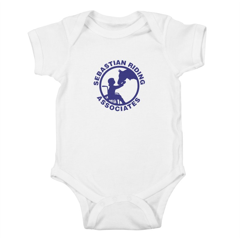 Sebastian Riding Logo Kids Baby Bodysuit by jesshanebury's Artist Shop
