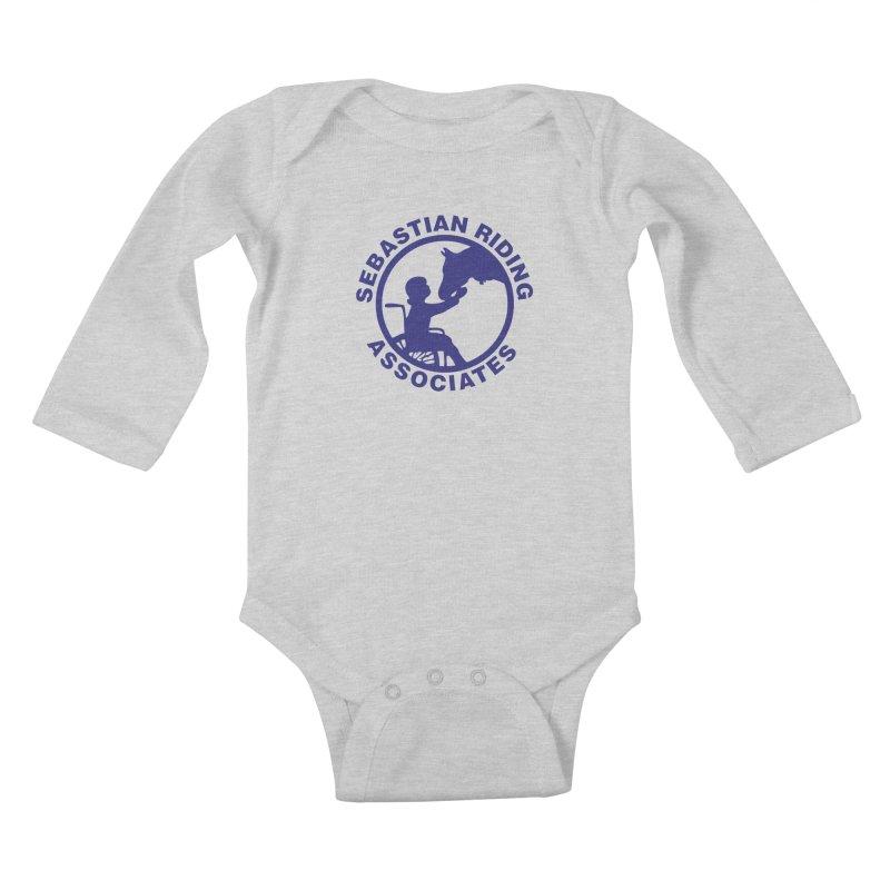 Sebastian Riding Logo Kids Baby Longsleeve Bodysuit by jesshanebury's Artist Shop