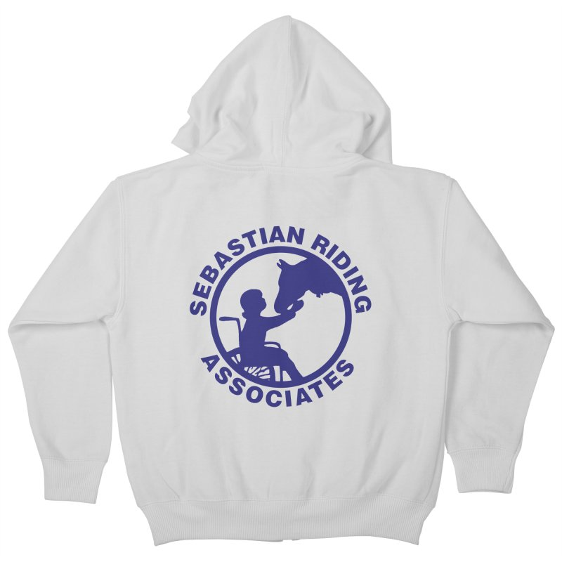 Sebastian Riding Logo Kids Zip-Up Hoody by jesshanebury's Artist Shop