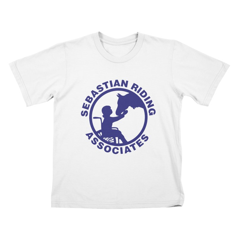 Sebastian Riding Logo Kids T-shirt by jesshanebury's Artist Shop