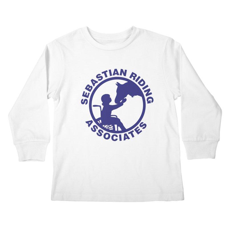 Sebastian Riding Logo Kids Longsleeve T-Shirt by jesshanebury's Artist Shop