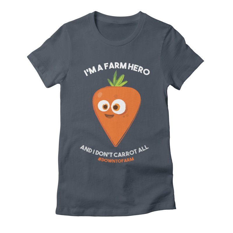 carrot Women's Fitted T-Shirt by jesshanebury's Artist Shop