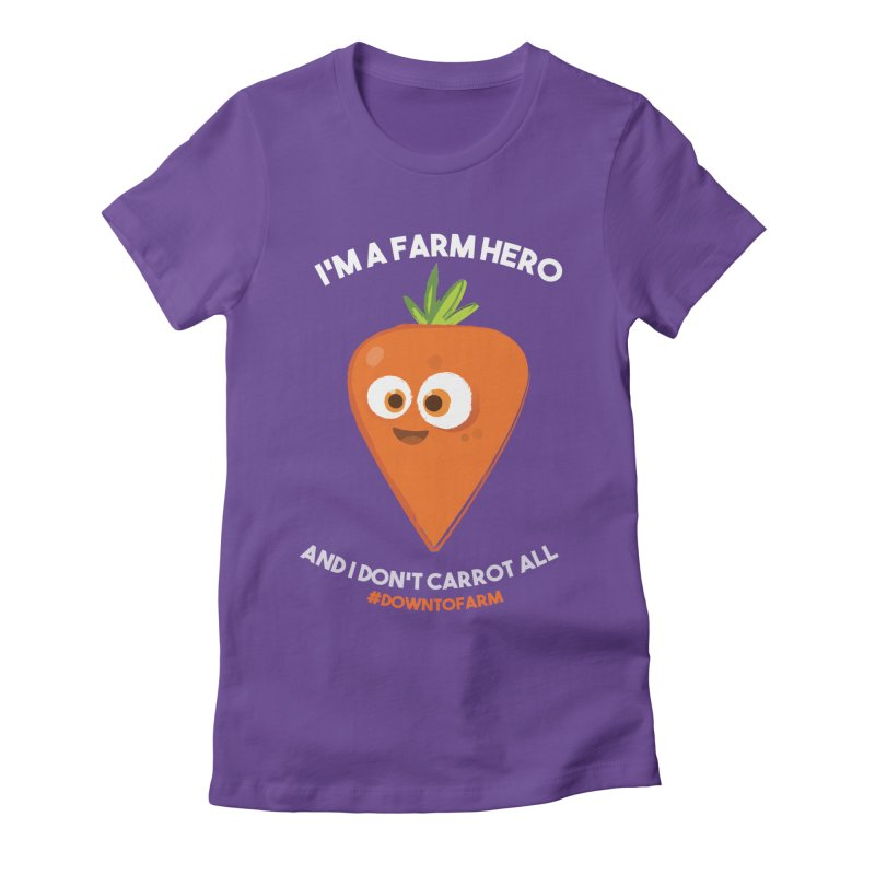 carrot Women's Fitted T-Shirt by jesshanebury's Artist Shop