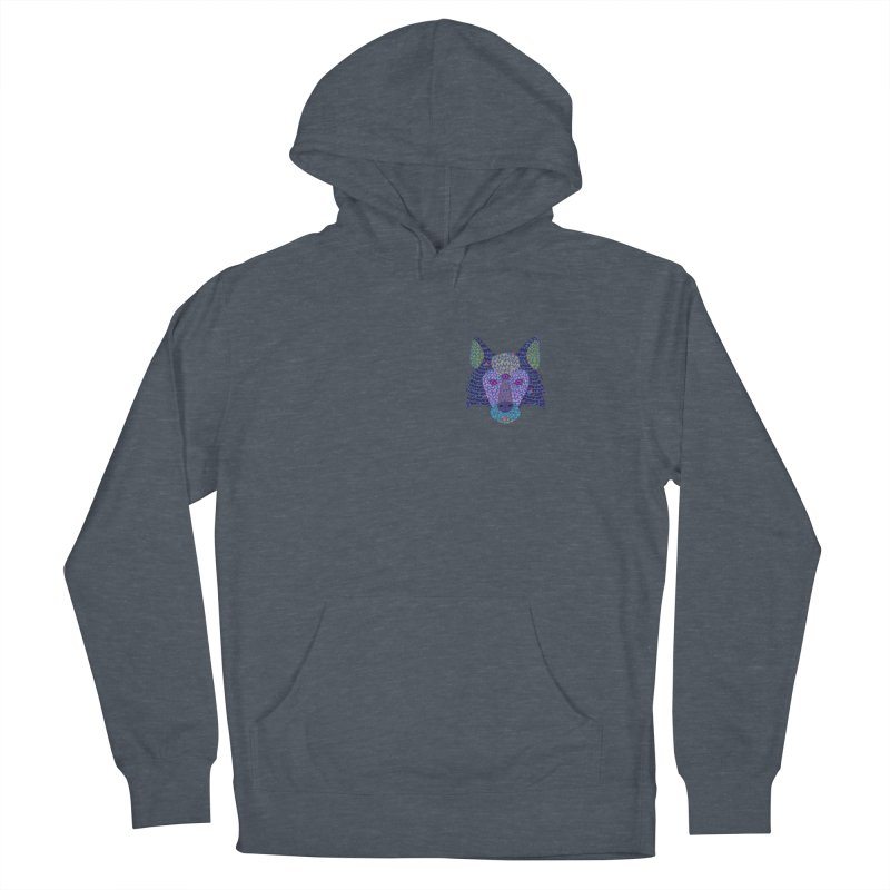Wolf Triclops Men's French Terry Pullover Hoody by JesFortner
