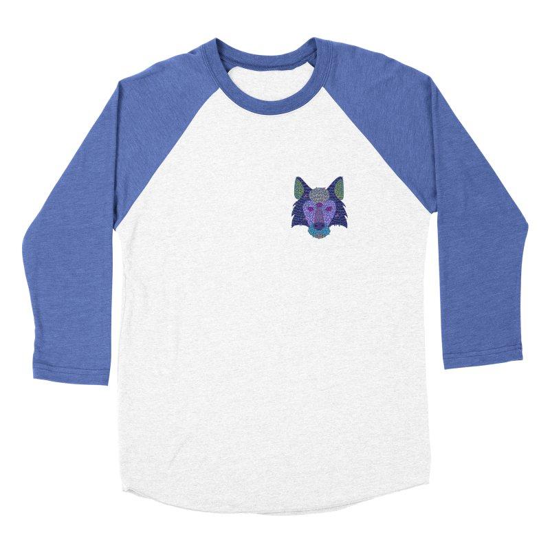 Wolf Triclops Men's Baseball Triblend T-Shirt by JesFortner