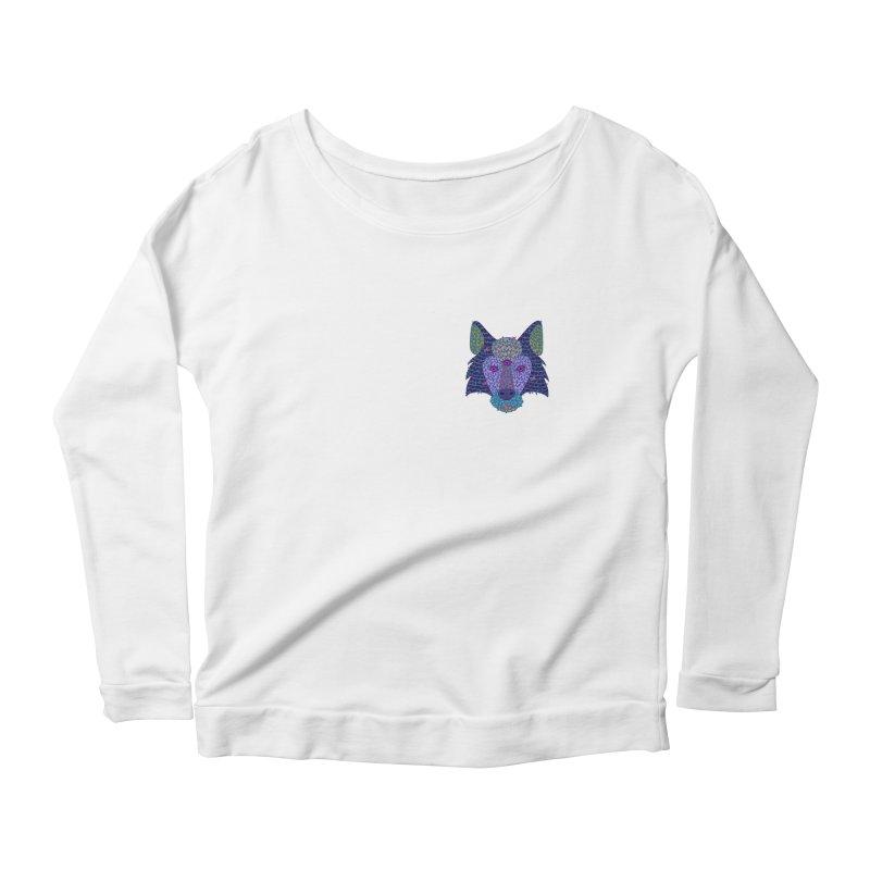 Wolf Triclops Women's Scoop Neck Longsleeve T-Shirt by JesFortner