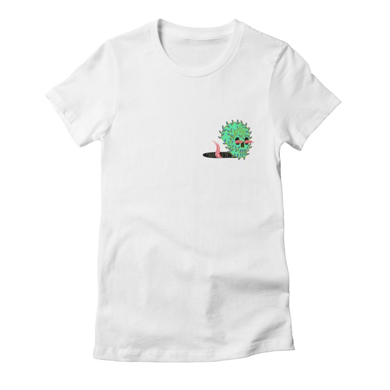 Came Up Snake Eyes Women's Fitted T-Shirt by JesFortner