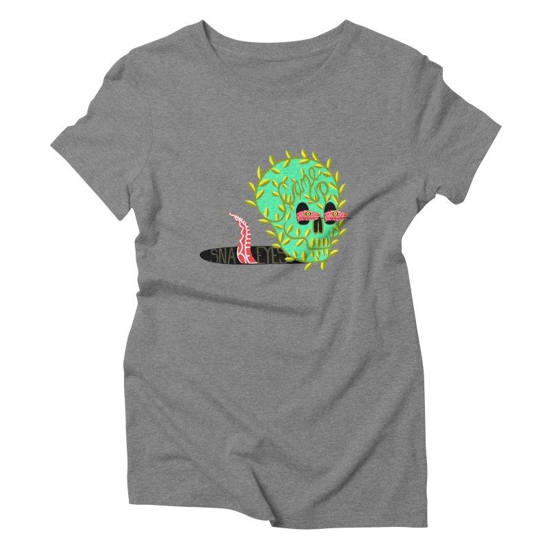 Came Up Snakes Eyes Full Women's Triblend T-Shirt by JesFortner