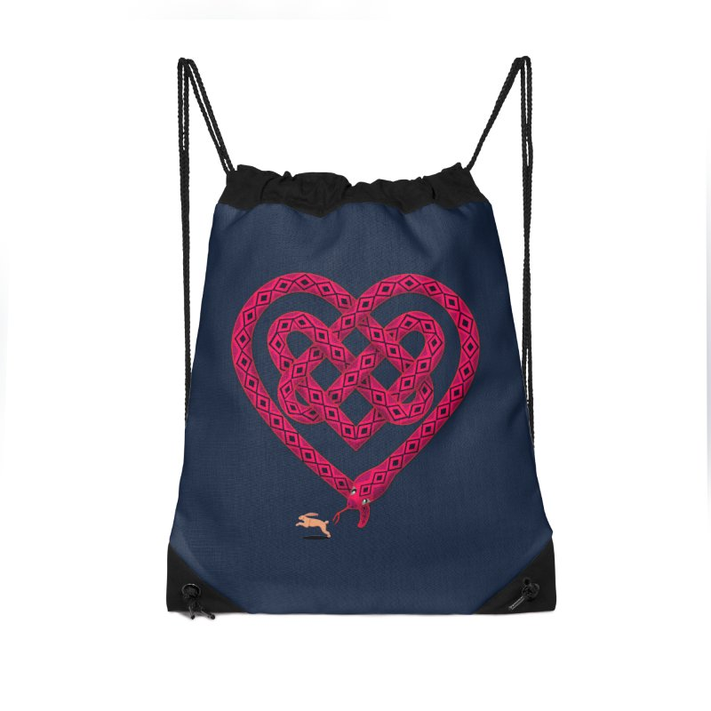Knotted Heart Accessories Bag by JesFortner