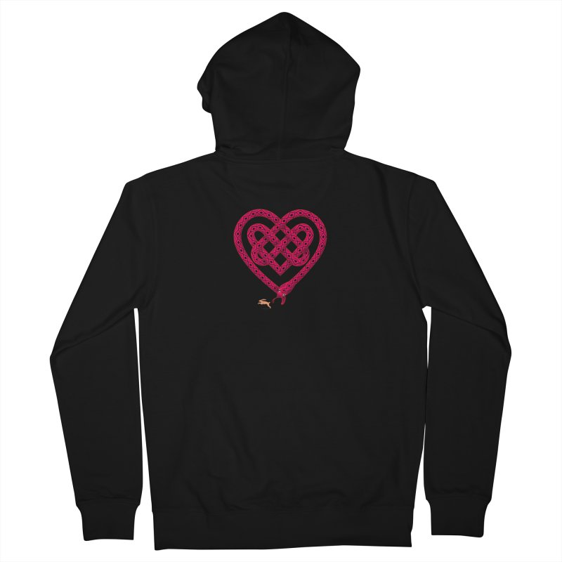 Knotted Heart Men's Zip-Up Hoody by JesFortner
