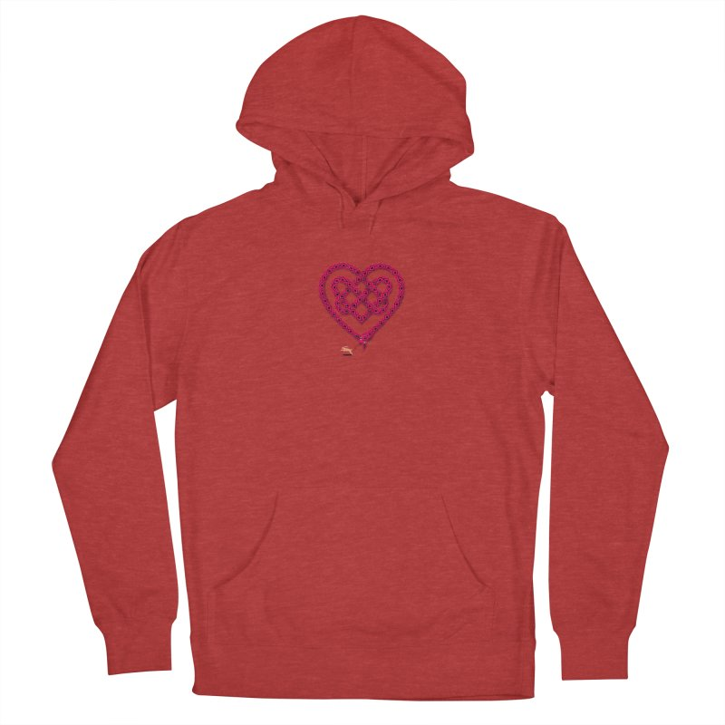 Knotted Heart Men's French Terry Pullover Hoody by JesFortner
