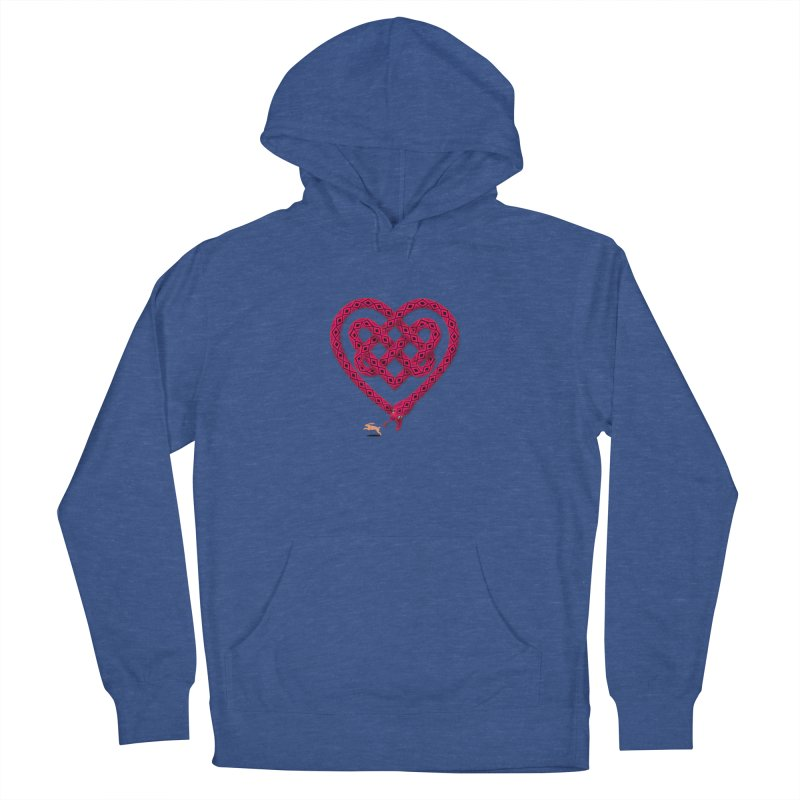 Knotted Heart Women's French Terry Pullover Hoody by JesFortner