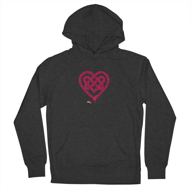 Knotted Heart Men's Pullover Hoody by JesFortner